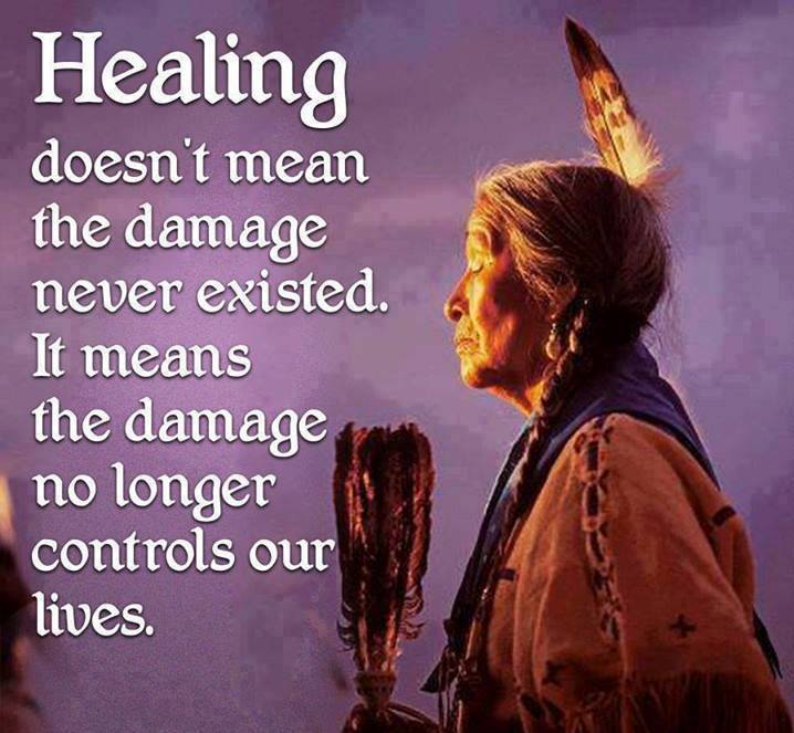 healing doesn't mean the damage never existed, it means the damage no longer controls our lives