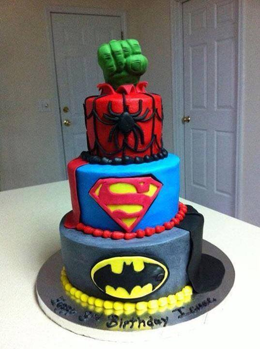 Layered Superhero Birthday Cake Justpost Virtually Entertaining
