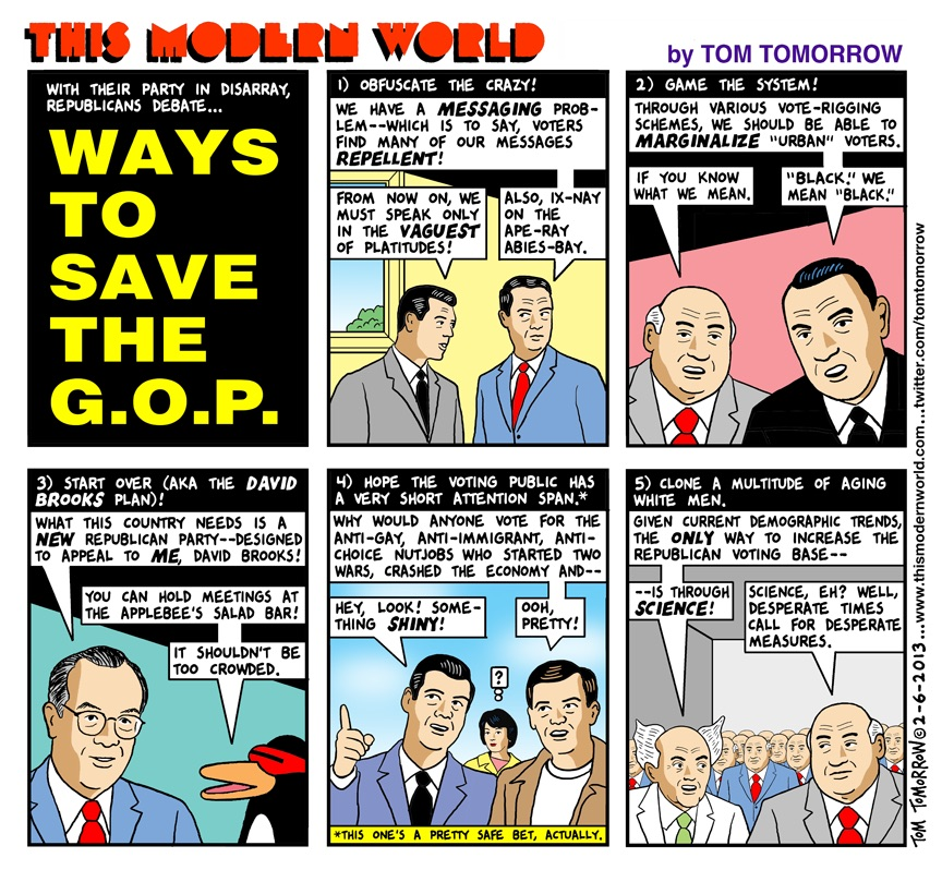 the modern world ways to save the gop, comic