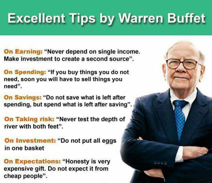 excellent financial tips by warren buffet