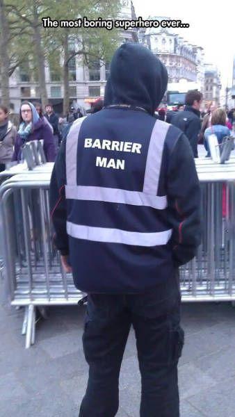 the most boring superhero ever, barrier man