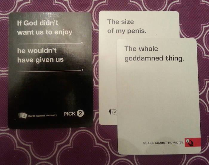 17 cards against humanity combinations that will make your jaw drop