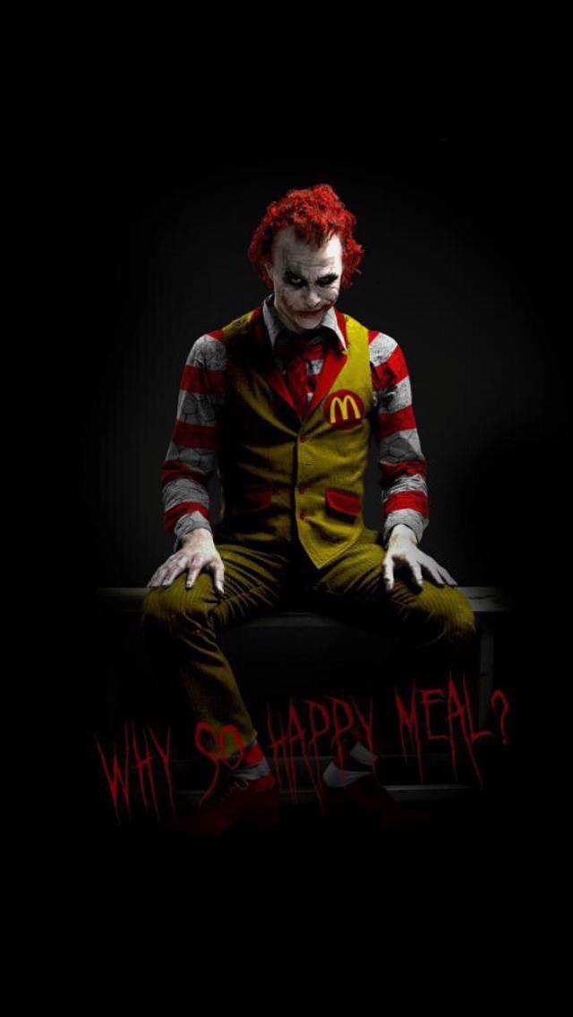 why so happy meal?, heath ledger's the joker as ronald mcdonald