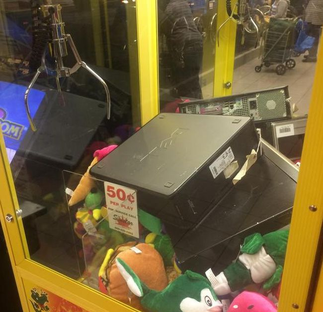 when the claw machine is offers up some real gaming power