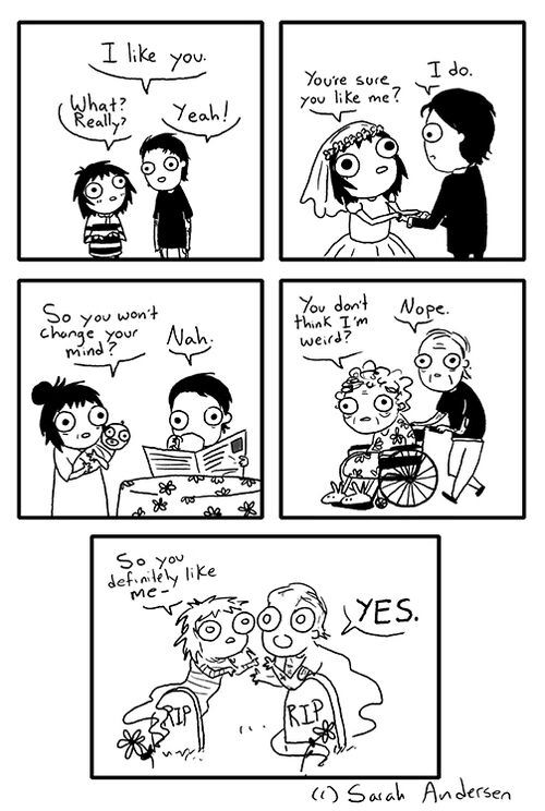 when you have low self esteem for life, i like you, what? really?, yeah, comic
