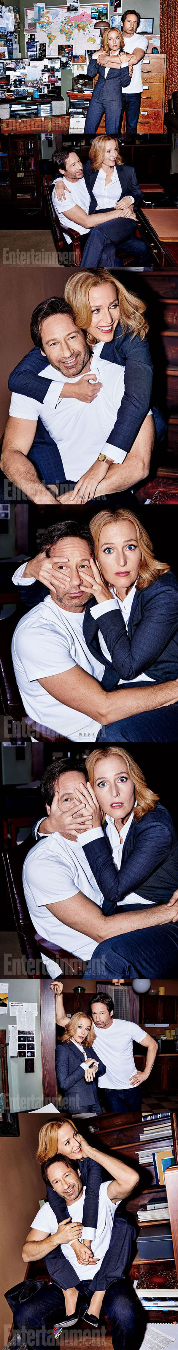 fox mulder and dana scully looking great for the new x-files mini series, david duchovny, gillian anderson