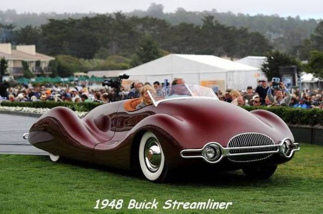 behold the 1948 buick streamliner, smooth old car design