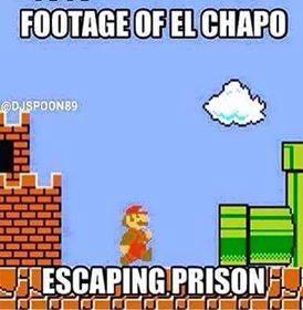 footage of el chap escaping prison through a tunnel, super mario world