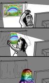 rainbow flag on facebook comic leaves everyone vulnerable