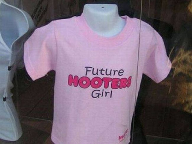future hooters girl t-shirt, wtf