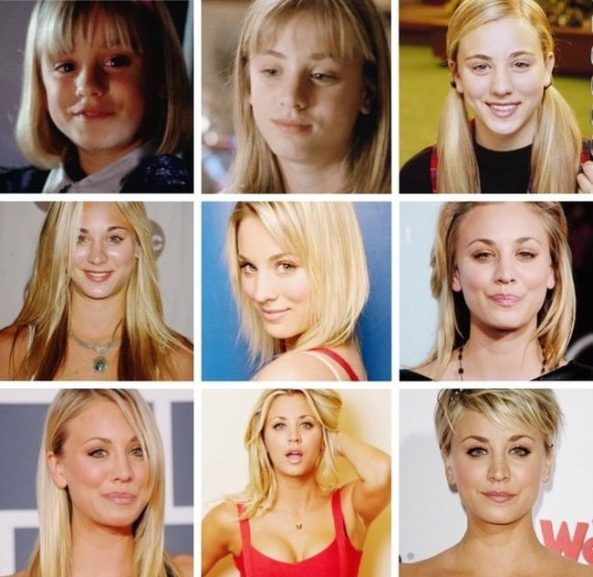 kaley cuoco throughout the years, cute blond actress