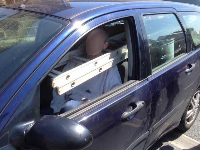 the most dangerous way to transport a ladder in your car, fail