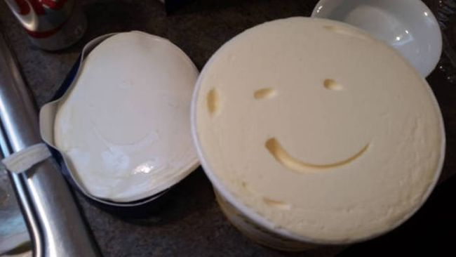 when your cream cheese winks at you