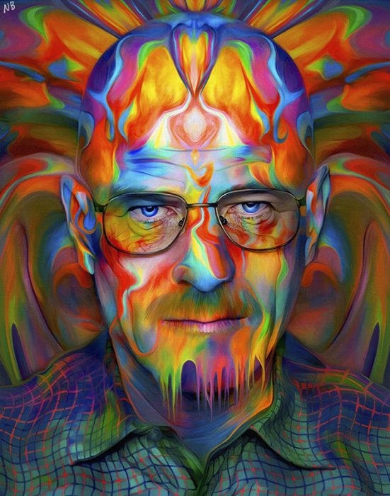 psychedelic walter white art