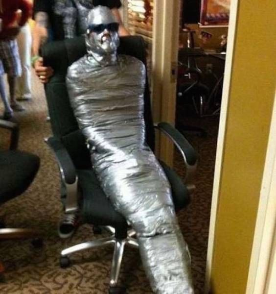 duct tape is the modern equivalent of mummification cloth