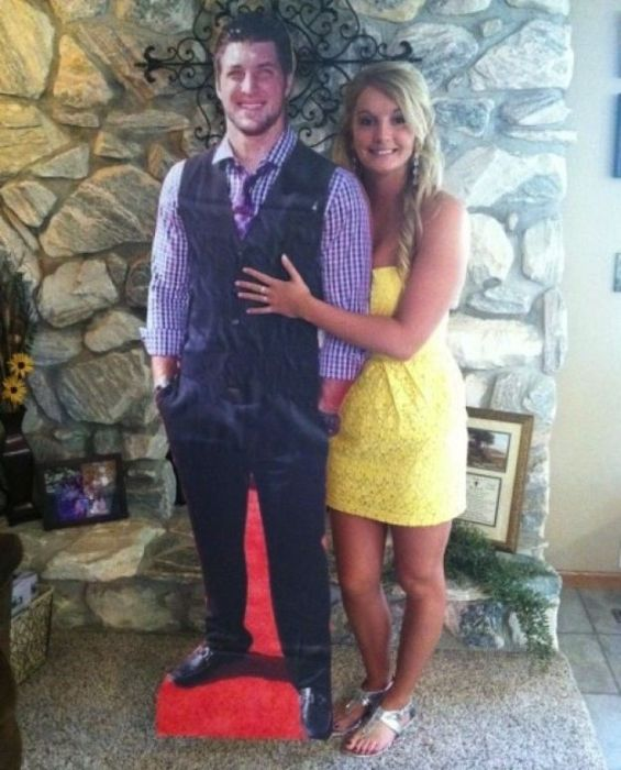 between imaginary boyfriends and real boyfriends there's always the cardboard cut out boyfriend
