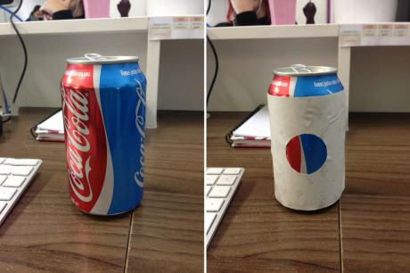 when coca cola can be made to look like pepsi