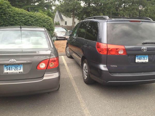 consecutive license plates