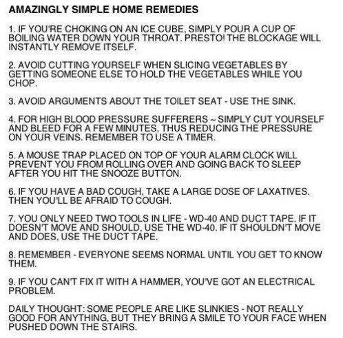 amazingly simple home remedies