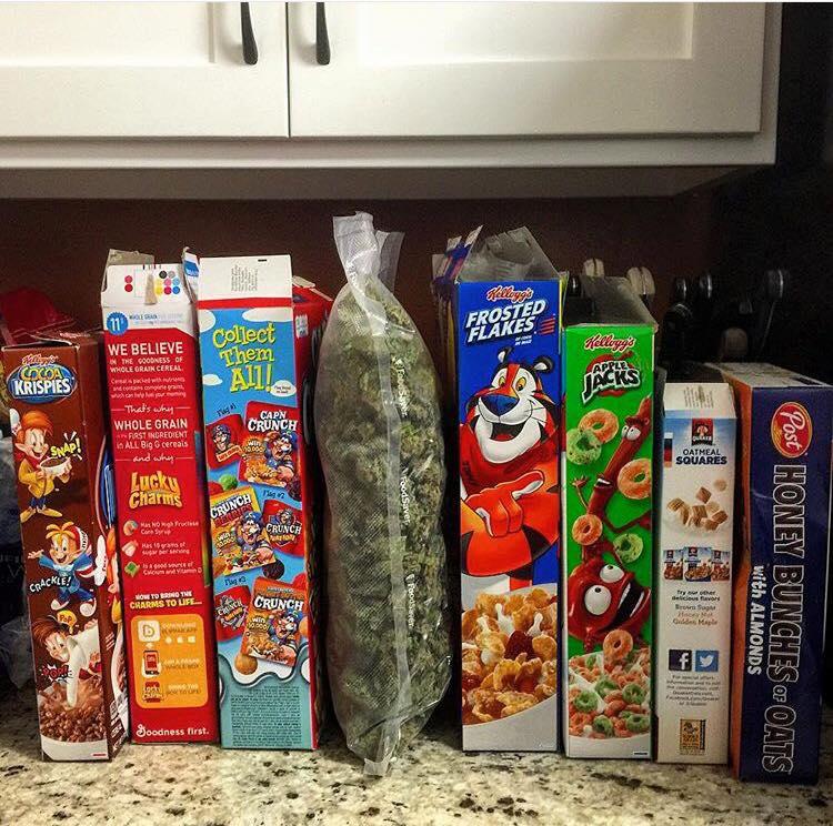 huge bag of marijuana now part of this complete breakfast