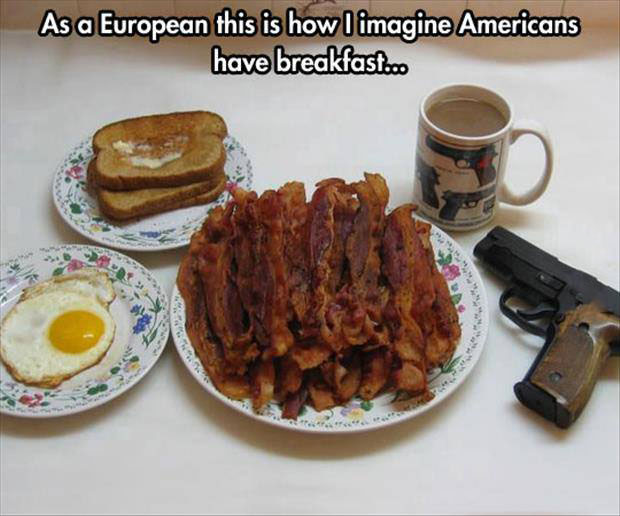 as a european this is how i imagine americans have breakfast