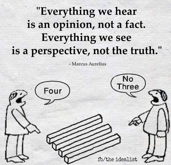 everything we hear is an opinion not a fact, everything we see is a perspective not the truth, four, no three