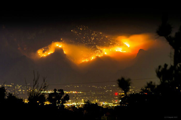 forest fires in greece make for one hell of a scary fire mountain