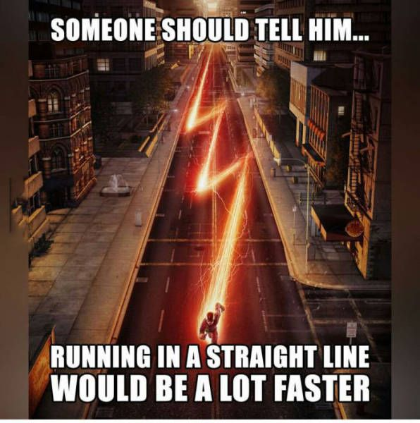 someone should tell him running in a straight line would be a lot faster, meme