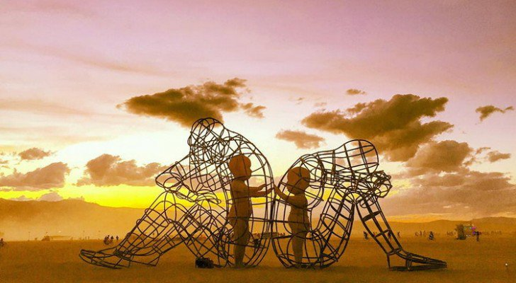 one of the most powerful art pieces at burning man this year