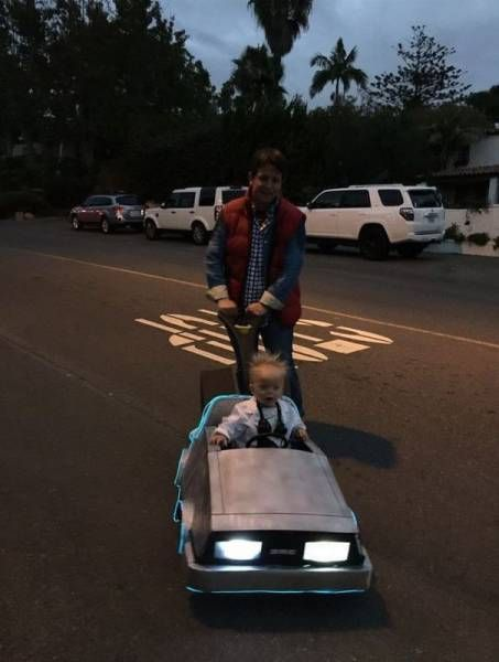 marty mcfly and doc from back to the future costumes, family cosplay