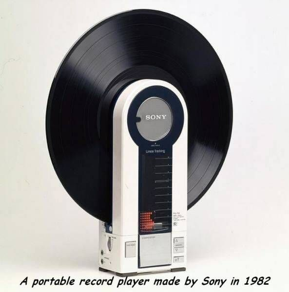 a record player made by sony in 1982