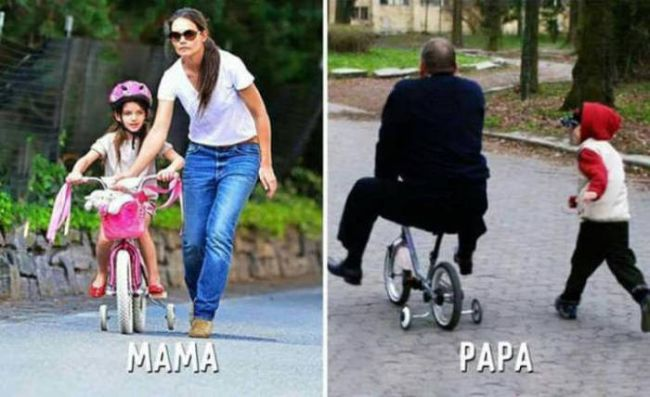 the difference between mama and papa