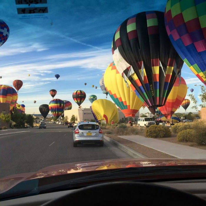 hot air balloon day in my town