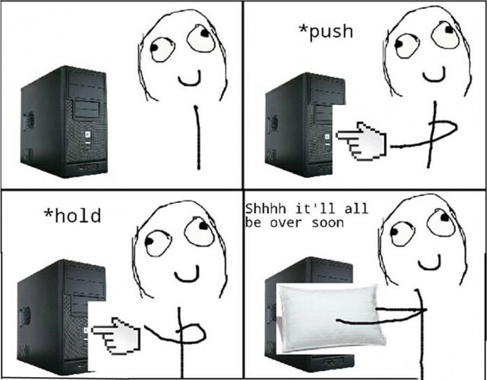 what it really is, what it feel like, force shutting down your pc