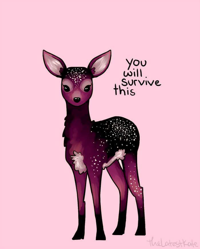 space bambi says you will survive this