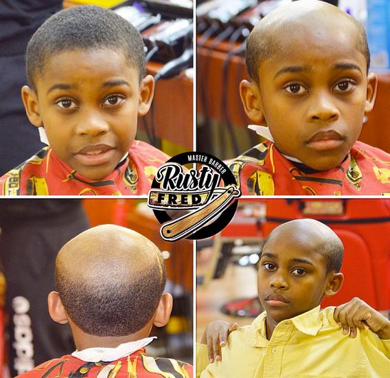 an atlanta barber shop gives misbehaving kids old man haircuts