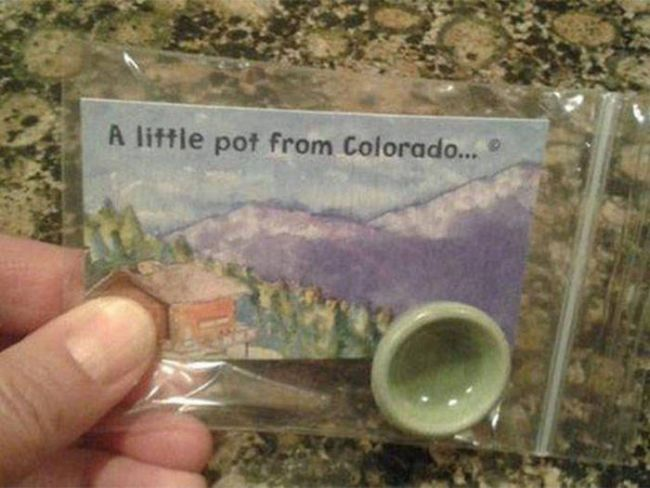 just a little pot from colorado