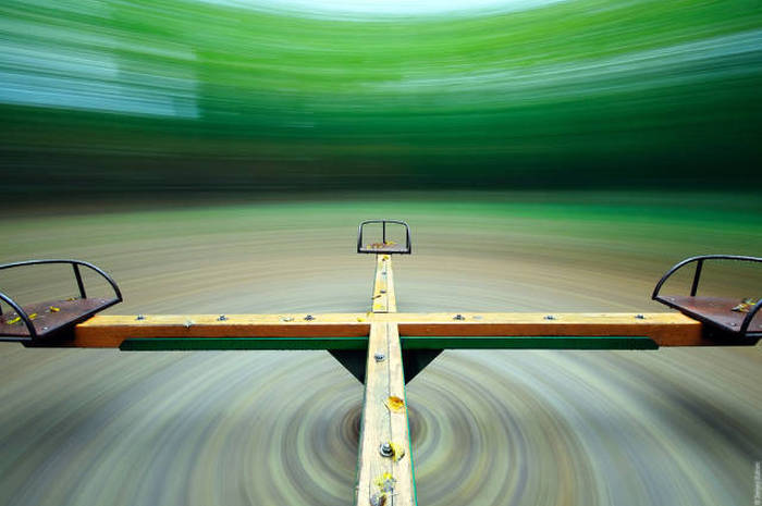 perspective view from a spinning park game