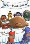 sesame street celebrates thanksgiving with big bird