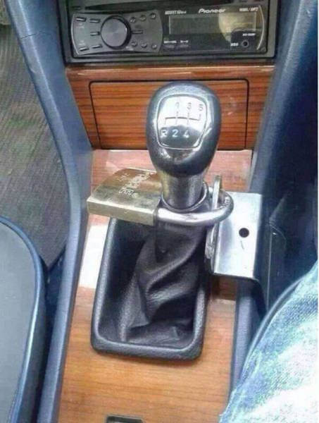 some people lock their shifter to prevent auto theft