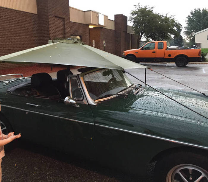 how to protect your convertible from the rain, engineer