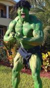 dwayne johnson as the hulk for halloween