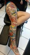 epic full leg tattoo