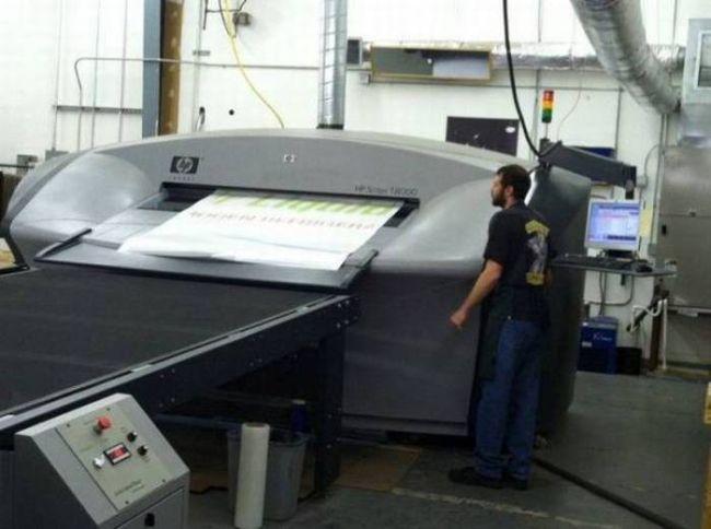 giant frickin' printer