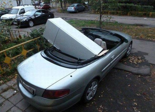 moving your refrigerator in your convertible