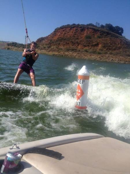 water skiing in the forbidden zone, rebel