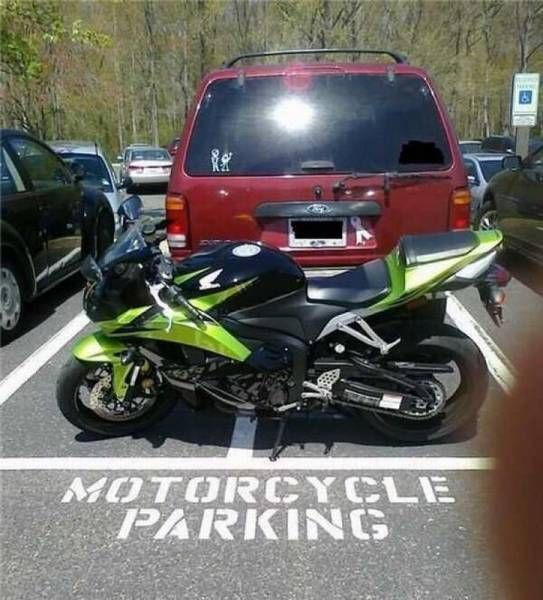 asshole motorcycle parking