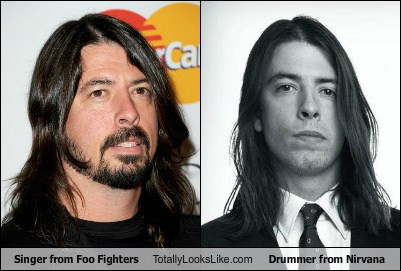 singer from foo fighters totallylookslike drummer from nirvana