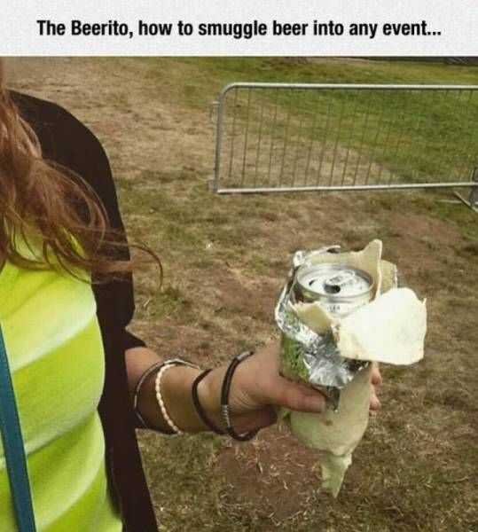 the beerito, how to snuggle beer into any event
