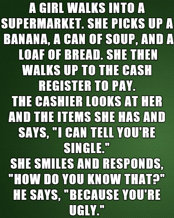 a girl walks into a supermarket, joke